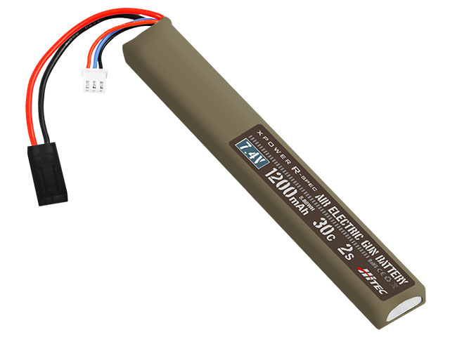XPOWER R-SPEC AIR ELECTRIC GUN BATTERY Li-Po 7.4V 1200mAh 30C 2S